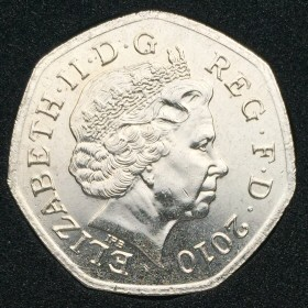 Obverse showing the 4th portrait of the Queen