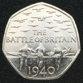 2015 Battle of Britain 50 Pence