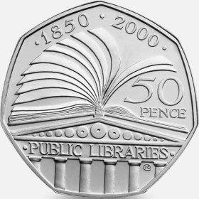 Public Libraries 50p Coin