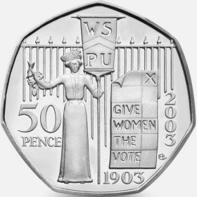 Womens Social and Political Union 50p Coin