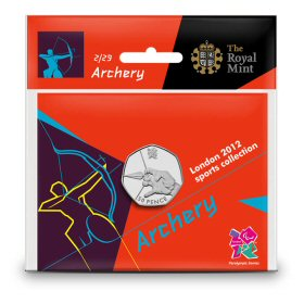 Archery 50p - The Royal Mint display card 2