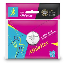 Athletics 50p - The Royal Mint display card 3