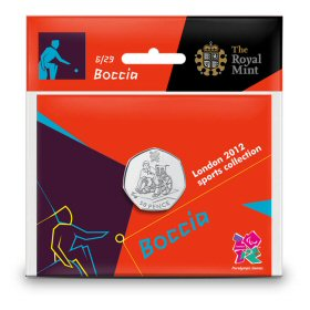 Boccia 50p - The Royal Mint display card 6
