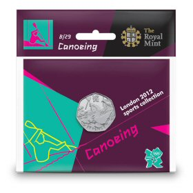Canoeing 50p - The Royal Mint display card 8