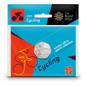 Cycling 50p - The Royal Mint display card 9