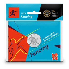Fencing 50p - The Royal Mint display card 11