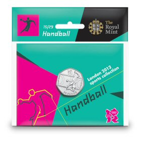 Handball 50p - The Royal Mint display card 15
