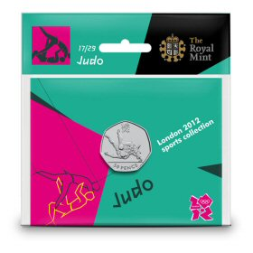 Judo 50p - The Royal Mint display card 17