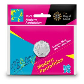Modern Pentathlon 50p - The Royal Mint display card 18