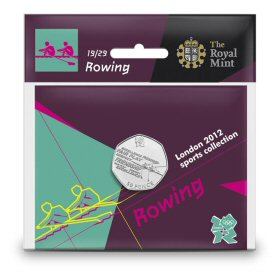 Rowing 50p - The Royal Mint display card 19