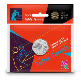 Table Tennis 50p - The Royal Mint display card 22