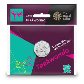 Taekwondo 50p - The Royal Mint display card 23