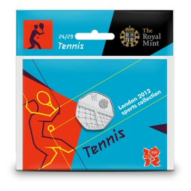 Tennis 50p - The Royal Mint display card 24