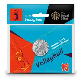 Volleyball 50p - The Royal Mint display card 26