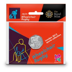 Wheelchair Rugby 50p - The Royal Mint display card 28