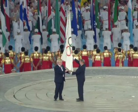 2008 Olympic flag handover to London