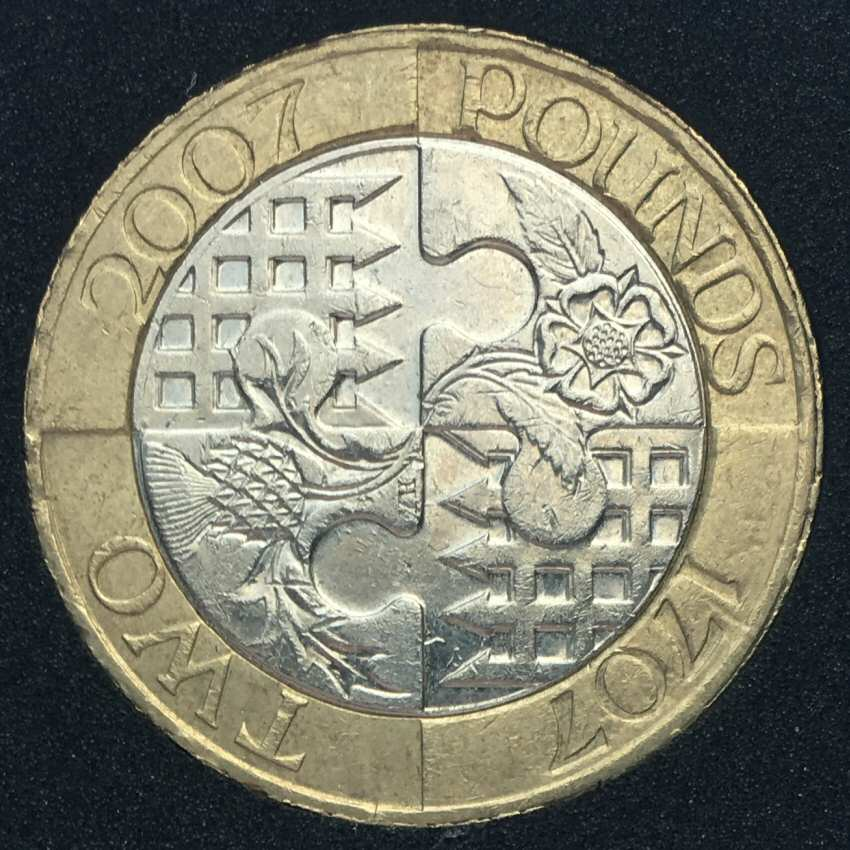 how to clean 2 pound coins