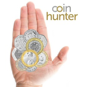 Coin Checker hand with 2009 Charles Darwin £2