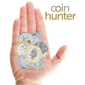 Coin Checker hand with 2013 Anniversary of the Guinea £2