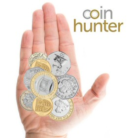 Coin Checker hand with 2014 Trinity House £2