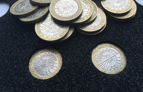 Guy Fawkes Gunpowder Plot £2 Coins in Coin Foam