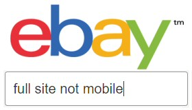 How to use UK eBay full site not mobile on iPhone, iPad