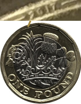 2016 New £1 Coin - Micro Dated 2017