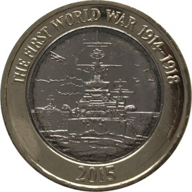 Royal Navy £2 Coin