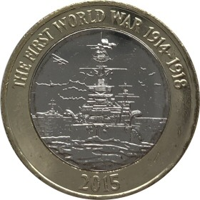 Royal Navy £2 Coin Flag Error reverse