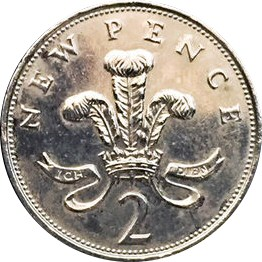 Silver coloured 2p (1971 to 1992)