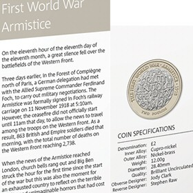 FWW Centenary Armistice £2 Coin in the 2018 Annual Set