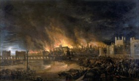 The Great Fire of London by an unknown artist