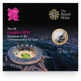 London 2012 Handover to Rio Commemorative £2 Coin
