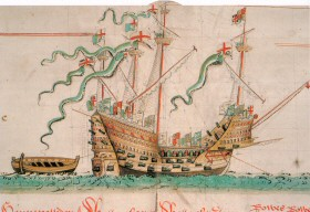 The Mary Rose as depicted in the Anthony Roll