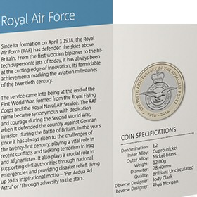 RAF Centenary £2 Coin in the 2018 Annual Set