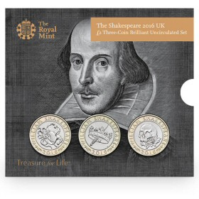 The Shakespeare Three-Coin Set