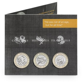 Shakespeare Three-Coin Set including Comedies