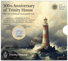 500th Anniversary of Trinity House 2014 UK Brilliant Uncirculated Coin