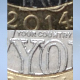 £2 Coin Error: Part of letter Y missing