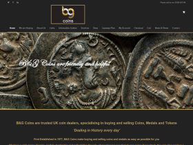 B & G Coins - Specialists in rare UK coins, foreign coins and medals