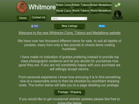 Whitmore Coins Tokens and Medallions