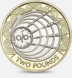 Wireless Transmission £2 Coin