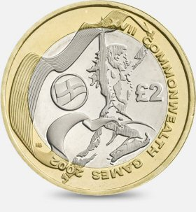 Commonwealth Games England £2 Coin
