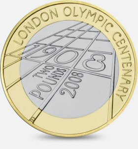 London Olympic Games of 1908 £2 Coin