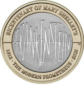 Mary Shelley's Frankenstein £2 Coin