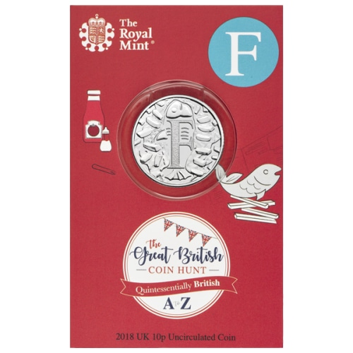 2019 F for Fish & Chips 10p [Uncirculated - Royal Mint pack]