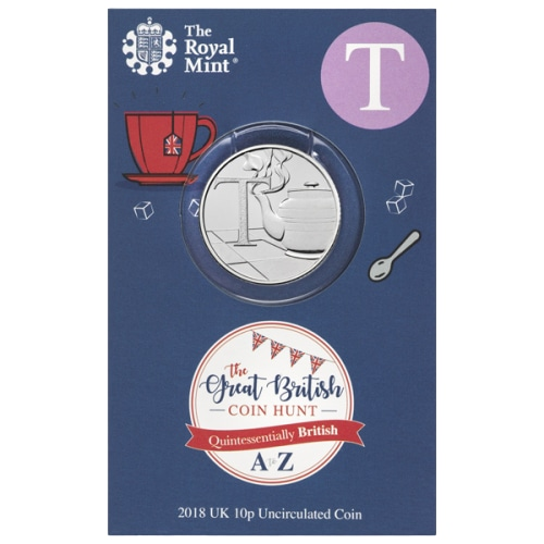 2019 T for Tea 10p [Uncirculated - Royal Mint pack]