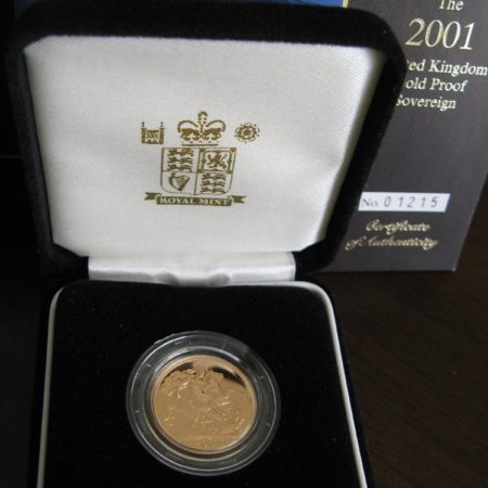 2001 Proof Gold Sovereign