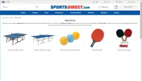 Table Tennis at Sports Direct