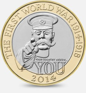 First World War Centenary £2 is worth £2.99